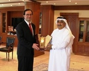 The Deputy Secretary General of the WCO, Sergio Mujica, with the Director General of Qatar Customs, Ahmed Bin Ali Almohannadi