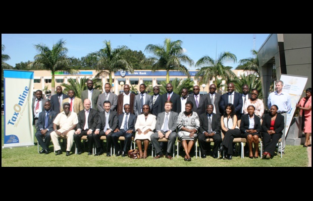 The Participants at the first day of the National Policy Dialogue in Zambia.