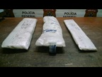 6 kg of methamphetamine in the false bottom of a suitcase at Sao Paulo Airport (Brazil)