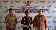 From left to right: WCO Secretaty General Mikuriya, Director General of Indonesian Customs, Mr. Agung Kuswandono, and Minister of Finance, Mr. Bambang Brodjonegoro, at the AEO launching session