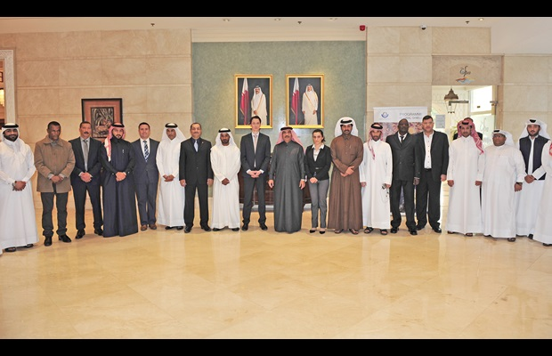 Opening Photo with A. Rahman Sultan Al Kuwari, Head of the training evaluation department at the General Authority of Customs