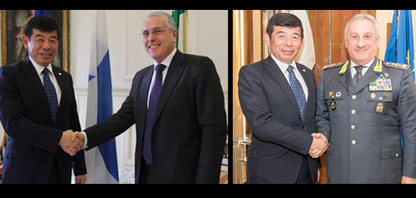 WCO Secretary General Kunio Mikuriya, Director General of the Italian Customs and Monopolies Agency Benedetto Mineo [left] and General Commander Giorgio Toschi of the Guardia di Finanza [right]