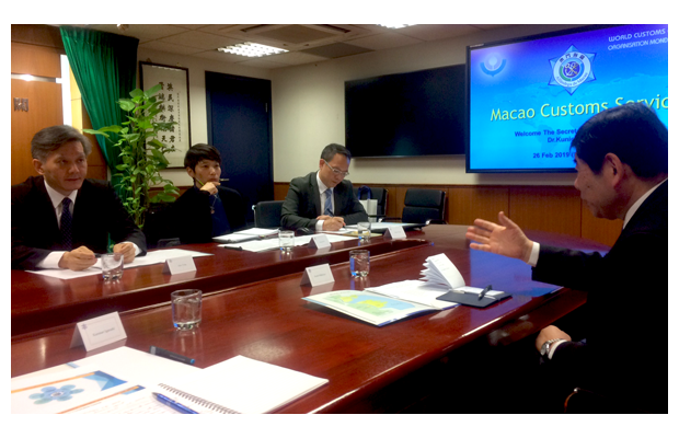 In Macau, the Secretary General met with Director General Vong and his management team