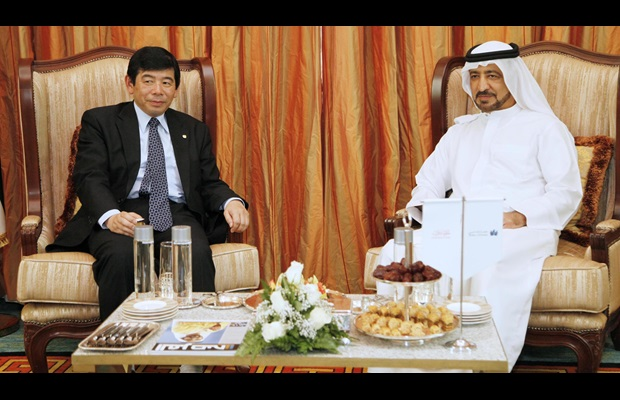 WCO Secretary General Kunio Mikuriya at the meeting with His Excellency Ahmed Butti Ahmed, Executive Chairman of Ports, Customs and Free Zone and Director General of Dubai Customs