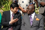 WCO Secretary General Kunio Mikuriya with Malawi Deputy Minister for Finance, Hon Dr. Cornelius Mwalwanda, MP