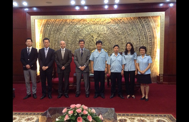 The WCO mission team with Deputy Director General, Mr. Vu Ngoc Anh and staff of the Vietnam Customs Administration.