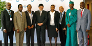 Brussels-based Customs Attachés from African countries with WCO Secretary General Kunio Mikuriya, during their visit to the WCO on 9 May 2014 to announce the formation of the new Group