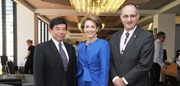 From left to right: WCO Secretary General Kunio Mikuriya, Senator the Hon Michaelia Cash, Assistant Minister for Immigration and Border Protection, Australia, and ACBPS Chief Executive Officer Michael Pezzullo