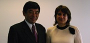 Mr. Mikurya with Lilianne Ploumen, Netherlands Minister for Foreign Trade and Development Cooperation.
