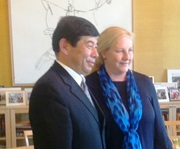 Secretary General Mikuriya and Ewa Björling, Swedish Minister for Trade