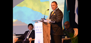 The Right Honorouble Perry Gladstone Christie, Prime Minister and Minister of Finance of the Commonwealth of The Bahamas during his opening speech at the 14th IT Conference and Exhibition 2015.