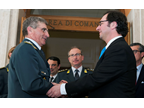 WCO Deputy Secretary General Sergio Mujica and Commanding General Saverio Capolupo meet at the Guardia di Finanza Headquarters in Rome, Italy, on 19 and 20 May 2015.