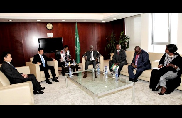 Meeting with Mr. Moussa Faki Mahamat, Chairperson of the AU Commission