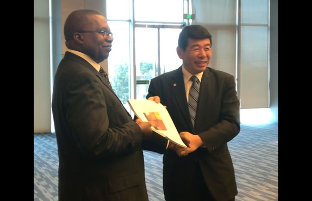 Launching of the WCO Origin Compendium with Mr. Albert Muchanga, AU Commissioner for Trade and Industry