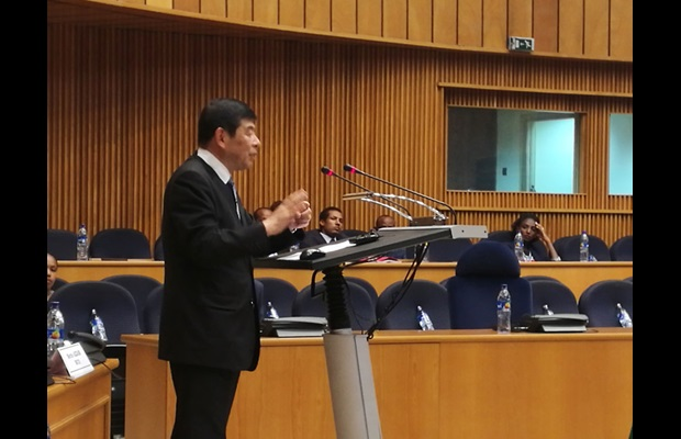 WCO Secretary General Mikuriya during his opening address