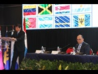 WCO Secretary General Mikuriya during his address at the XXII Regional Conference of Customs Directors General for the WCO Americas/Caribbean region
