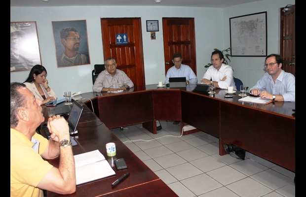 The Deputy Secretary General, Sergio Mujica, at the Management Committee meeting of the Nicaraguan Customs