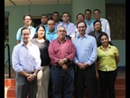 The Deputy Secretary General, Sergio Mujica, with the Nicaraguan Customs senior Management and the AEO teams