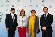 From left to right: Mr. Kunio Mikuriya, WCO Secretary General, Ms. Carmen Gisela Vergara, SIECA Secretary General, Her Excellency Ms. Elena Barletta, the Ambassador of Panama in Belgium, and Mr. Sergio Mujica, WCO Deputy Secretary General
