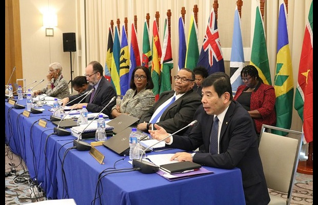 WCO Secretary General Kunio Mikuriya during his address at the COTED Meeting, CARICOM