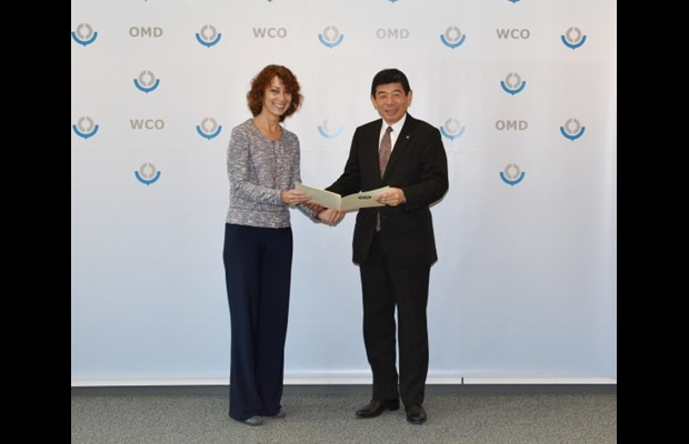 WCO Secretary General Kunio Mikuriya and Her Excellency Ms. Natalie Sabanadze, Ambassador and Head of the Mission of Georgia to the European Union