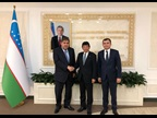 Secretary General Mikuriya during his bilateral meeting with Deputy Prime Minister Ganiev