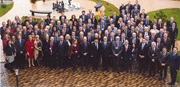 Secretary General Mikuriya on a group's photo at the High level Seminar in Druskininkai, Lithuania on 24 and 25 October 2013