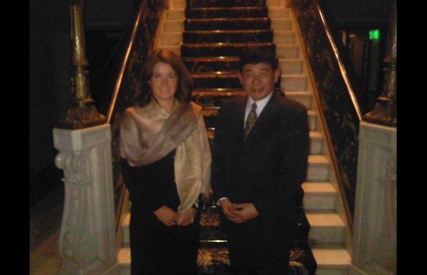 Secretary General Mikuriya with Ms. Angelique Berg, Director General of Netherlands Customs