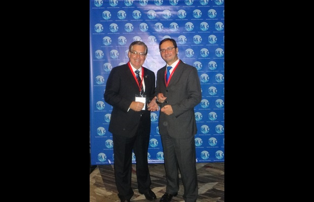 Raul Saldias, Chairman of the Board of Directors BASC, and Sergio Mujica, WCO Deputy Director General