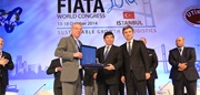 From left to right: Mr. Francesco Parisi, President of FIATA, Mr. Kunio Mikuriya, WCO Secretary General, and Mr. Turgut Erkeskin, President of the Association of International Forwarding and Logistics Service Providers (UTIKAD).