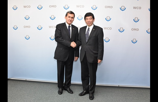 Minister of Foreign Affairs and Deputy Chairman of the Cabinet of Ministers of Turkmenistan, His Excellency Mr. Rashid Meredov and WCO Secretary General Dr. Kunio Mikuriya