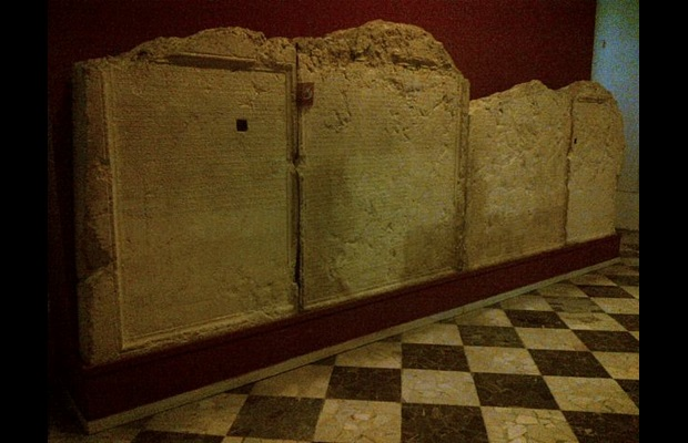 "The ""Palmyrian Tariff"" marble slab, one of the oldest written Customs tariffs bearing a law issued on 18 April 137 AD"
