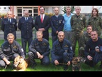 Mr. Mujica with the Director and staff of the Customs Canine Training Centre during his visit to Hermanice, Czech Republic.