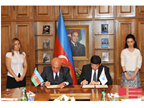 Signature of the MOU establishing the WCO Regional Dog Training Centre in Baku, on 7 September 2015, between the WCO and the Azerbaijan State Customs Committee