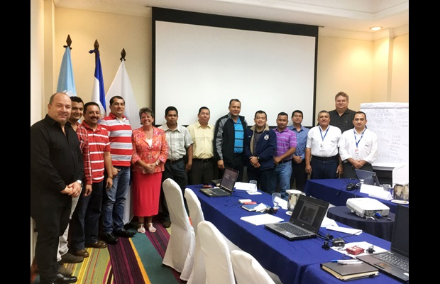 Canadian Ambassador meets with participants of the Container Control Programme training in El Salvador