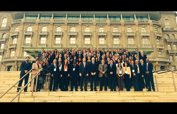 Group photo of the participants in the IX Meeting of the IADB Network of International Trade Single Windows held in Montevideo, Uruguay, on 7 and 8 September 2017
