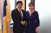 WCO Secretary General Kunio Mikuriya and Executive Director of Europol Catherine De Bolle