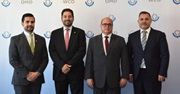 [From l. to r.] Guatemala's Vice-Minister of Foreign Affairs, Ambassador Jairo Estrada, WCO Deputy Secretary General Ricardo Treviño Chapa, Superintendent of Guatemala's Fiscal Agency Abel Cruz, and Ambassador of Guatemala to Belgium José Alberto Briz Gutierrez