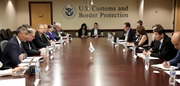 WCO Secretary General, Dr. Mikuriya, during the meeting with the Interagency Committee on Customs Co-operation Council Matters, hosted by U.S. CBP, with almost twenty government agencies in attendance