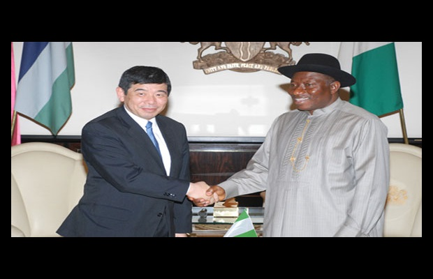 Secretary General Mikuriya during a courtesy visit paid to the President of the Republic of Nigeria, Mr. Goodluck Jonathan