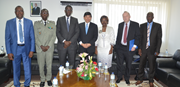 Director General of Senegal Customs, Mr. Elimane Saliou Gningue, Minister of Finance Mr. Amadou Ba, Secretary General Kunio Mikuriya, WCO Vice-Chair for West and Central Africa, Ms. Minette Libom Li Likend (Cameroon).