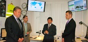 L-R Leigh Winchell, Deputy Director Enforcement WCO; Chris Walker, US DOE; WCO Secretary General Kunio Mikuriya and Adam Vas, Hungarian National Tax and Customs Administration.